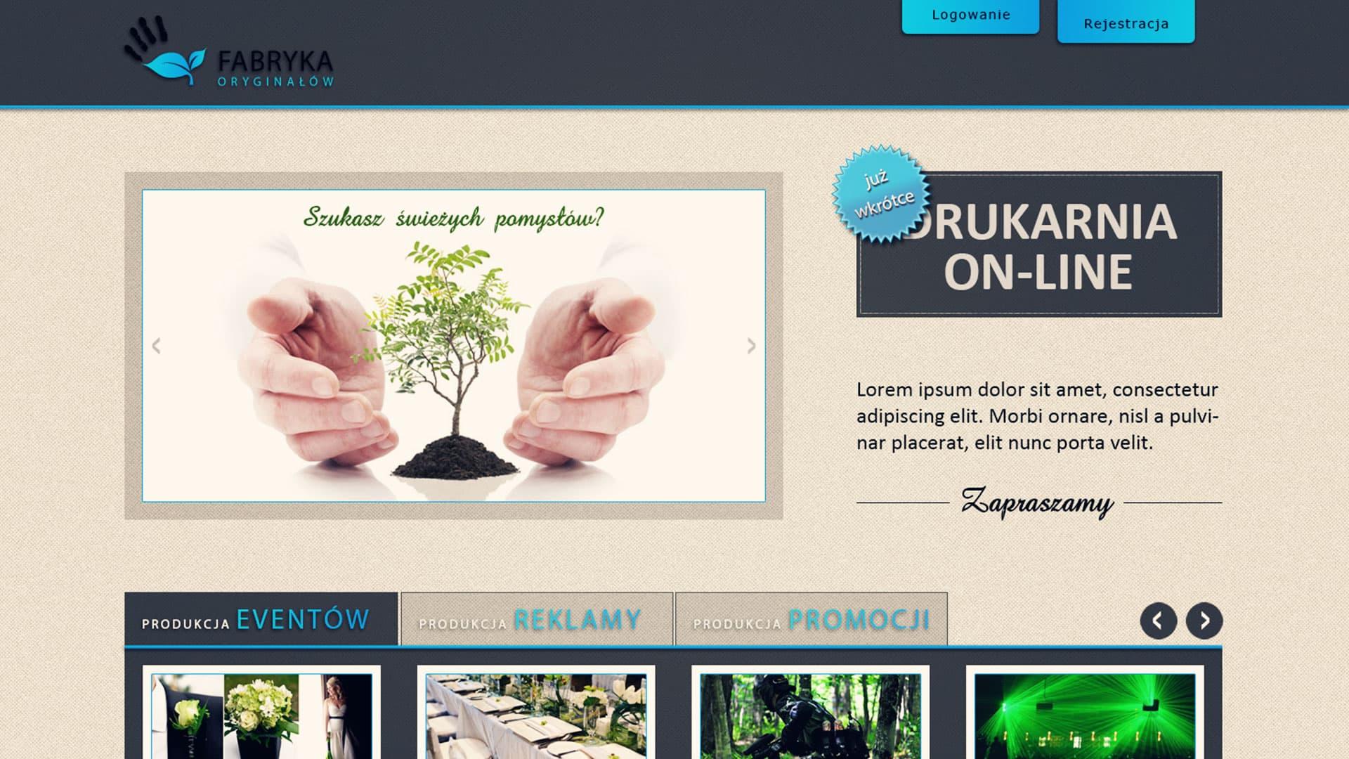 Strona www Farbryki Oryginałów