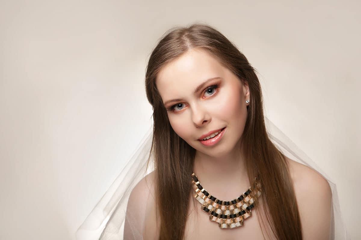 Stylizacja z makijażem ślubnym dla Aleksandry